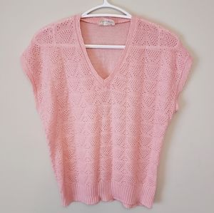 Soft Pink Knit Top